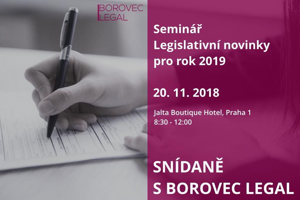 Legislativní novinky pro rok 2019