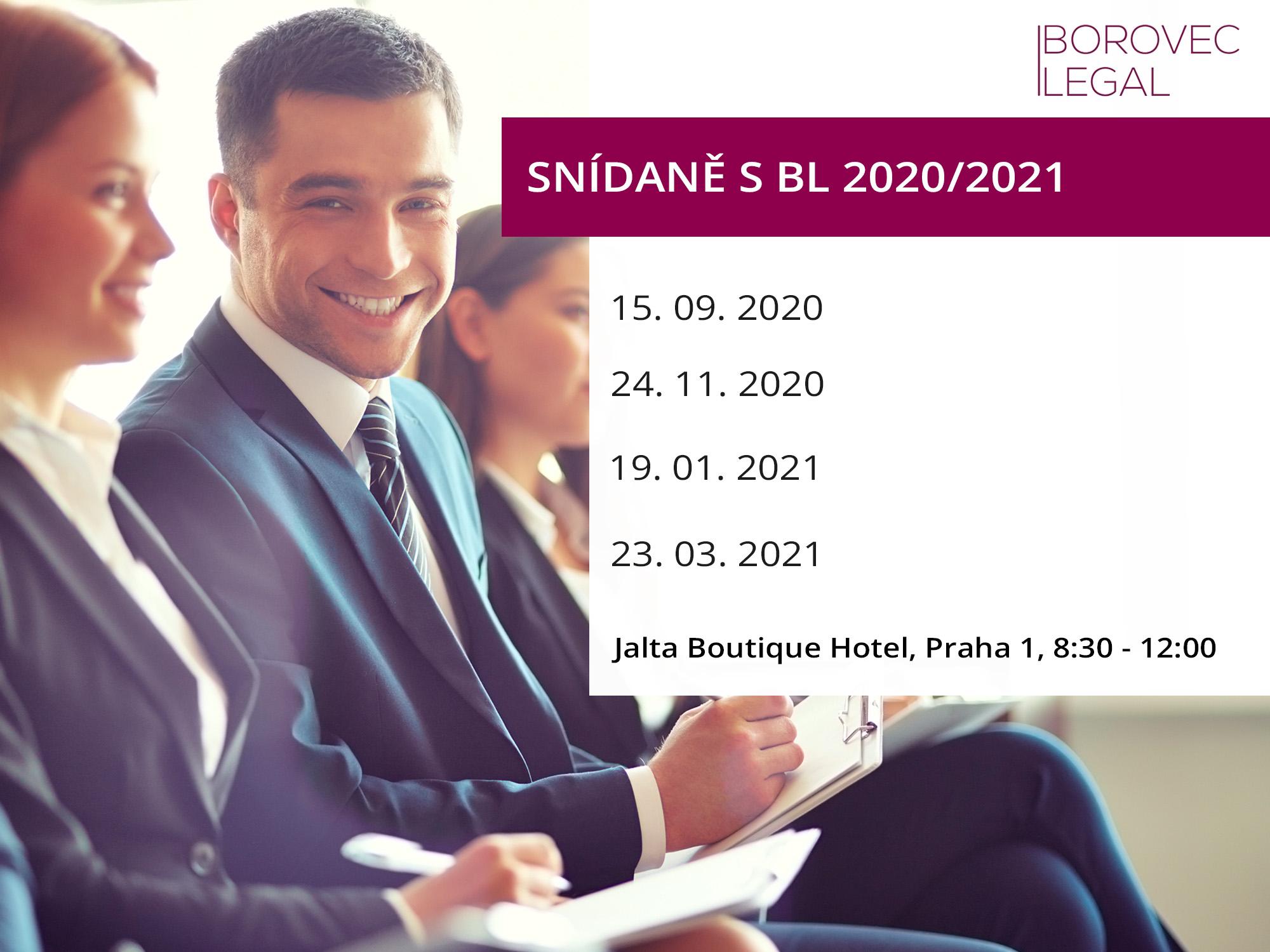 Snídaně s BOROVEC LEGAL 2020/2021 - Pracovněprávní novinky pro rok 2021